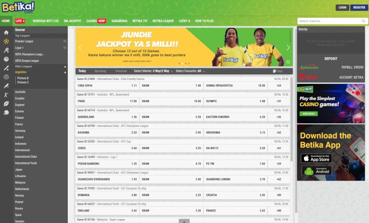 Betika Kenya: Mobile App, Paybill Number, Login
