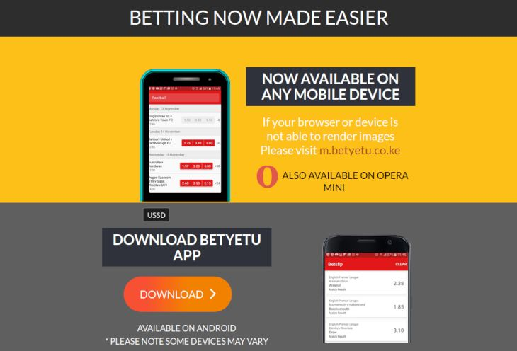 Betyetu sms betting software ht ft betting explained synonyms