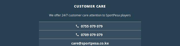 SportPesa support