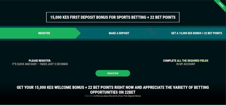 22BET bonus offers