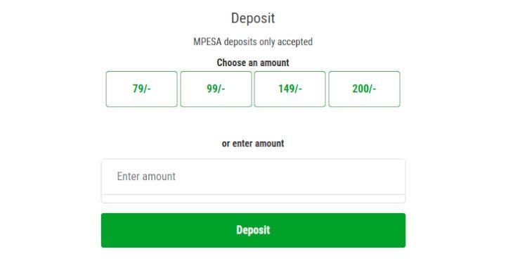 Odibets deposit
