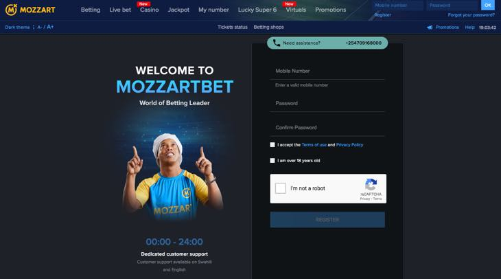 Mozzartbet - registration